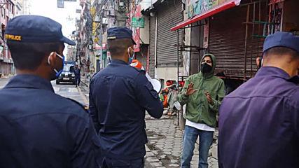Nepal: Police use 'social distancing pliers' to detain lockdown violators