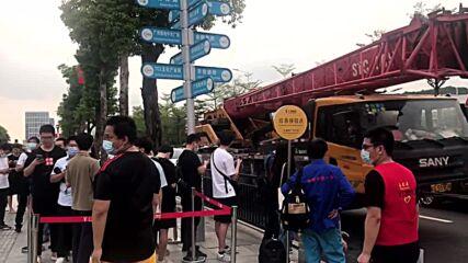 China: Metro station in Guangzhou evacuated as heavy rainfall floods underground