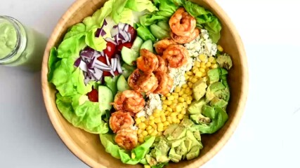Summer Picnic salads: Buffalo Shrimp