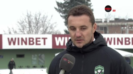 Станислав Генчев след успеха с 3:0 над Септември