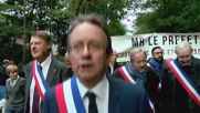 France: Hundreds rally against proposed refugee centre in Louveciennes