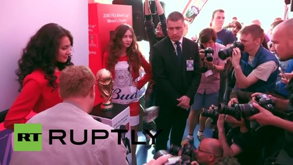 Russia: FIFA World Cup goes on display in St. Petersburg