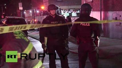 Балтимор е опустошен след нощните погроми, въведено е извънредно положение