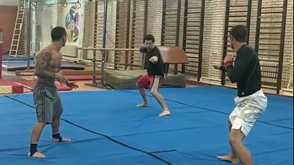 Evdemonia stunt team - Test fight - Five