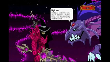 Aqworlds void dragon fight (86000 hp (86k hp)) + defeat cutscene at end