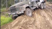 Руски камиони Краз 260 демонстрира мощ !