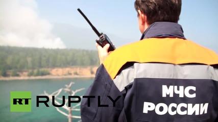 Russia: Tourists evacuated as EMERCOM battle firestorms at Lake Baikal