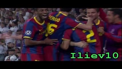 Първия гол на Меси в мача Реал Мадрид - Барселона (27.04.2011)