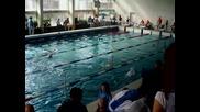 Мина плува 100 м съчетано на републиканското състезание в Пловдив