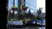 Фермери протестираха в Брюксел срещу орязването на субсидиите за земеделието
