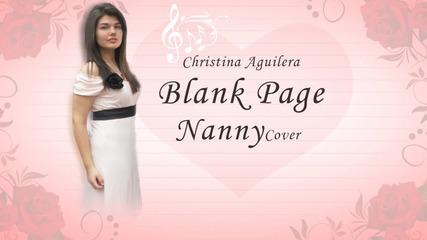 "Кавър на песента "" Blank page "" - Christina Aguilera"