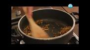 Мрежести палачинки, къри с пиле, кадаиф с ванилов крем - Бон Апети (03.06.2013)