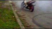 Yamaha burn out v montana