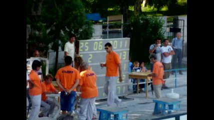 Мина плува 50м бруст на републиканското състезание в Сандански 2011 (с жълт бански)
