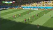 Бразилия на 1/4 финал на Световното! Бразилия 1:1 Чили (3:2 след дузпи) 28.06.2014