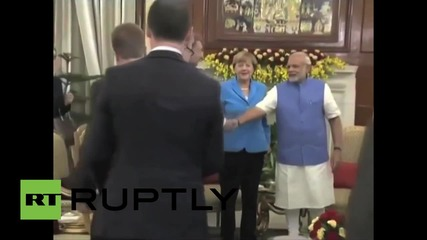 India: Merkel meets with Modi on her three-day visit to India