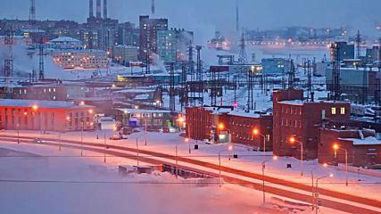 Норилск. Най-северния град в Русия.
