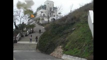 Бургаското казино в пламъци
