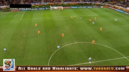 06.07.2010 Уругвай - Холандия 2:3 Всички голове и положения - Мондиал 2010 Юар
