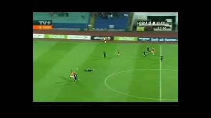 Лига Европа 27.07.10 г Цска - Клифтънвил - 3:0