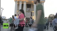 Продължаващи антиправителствени протести и напрежение в Скопие
