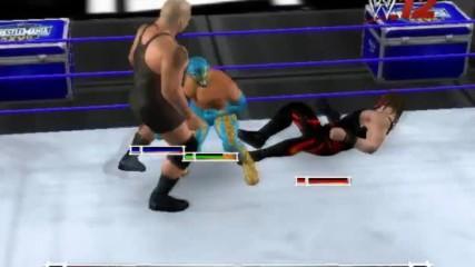 Wwe 12 Live Кейн срещу Син Кара срещу Грамадата