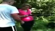 Girl shoots 12 gauge Fail