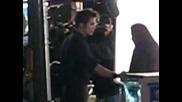 "Robert Pattinson and Kristen Stewart Rehearsing ""flittering Image"" Scene"