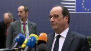 Belgium: Priority is to prolong Syrian truce - Hollande at EC meeting in Brussels