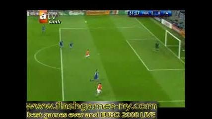 ЕВРО 2008 Холандия повежда на Италия с 2:0 - 10.06.2008 HQ