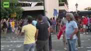 'No' Vote Advocates Clash with Police before Greek Referendum