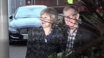 UK: PM Theresa May arrives in Birmingham for the Tory conference