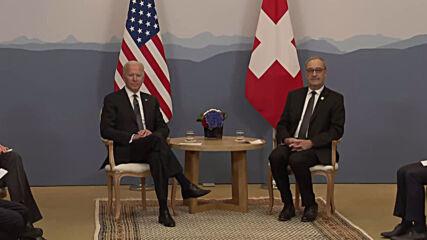 Switzerland: Biden meets with Swiss counterpart Parmelin in Geneva