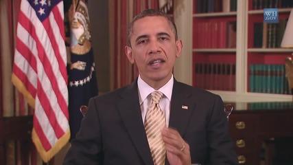 Барак Обама пее What Makes You Beautiful на One Direction