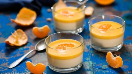 Панакота с крем от мандарини | Бон Апети | 24Kitchen Bulgaria