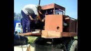 Палене На Багер С Пусков Двигател