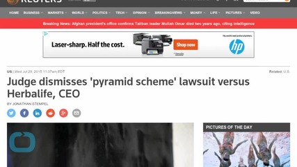 Judge Dismisses 'Pyramid Scheme' Lawsuit Versus Herbalife