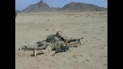 C6 Machine Gun Firing In Afghanistan