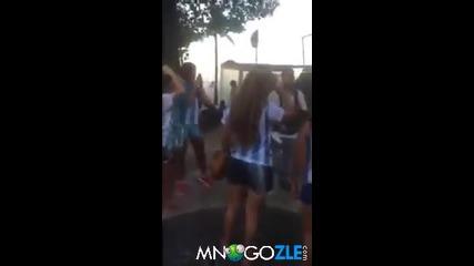 Как се тролват фенки на Аржентина