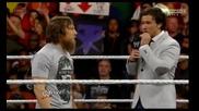 John Cena и Daniel Bryan подписват договор за световната титла на турнира Summerslam 2013 , Raw 22.7