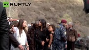Kim Kardashian and Kanye West tour Armenia's Geghard Monastery