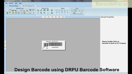 Design labels of different barcode font