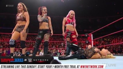 The Riott Squad hit Natalya with the Hart Attack: Raw, Nov. 12, 2018