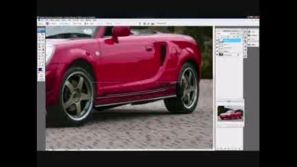 Photoshop Virtual Tuning Toyota Mr2
