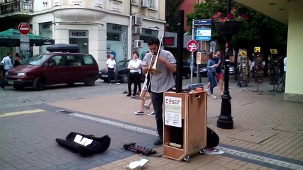 Страхотен уличен музикант