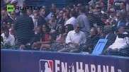 Obama and Castro Watch Baseball Game in Havana