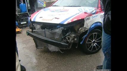 Катастрофиралите коли на писта Велико Търново