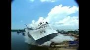 Вижте как пускат корабите :)