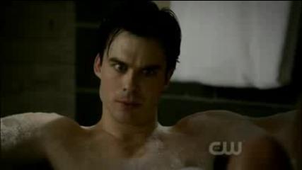 Damon's shower and bubblebath (2x13) - The Vampire Diaries
