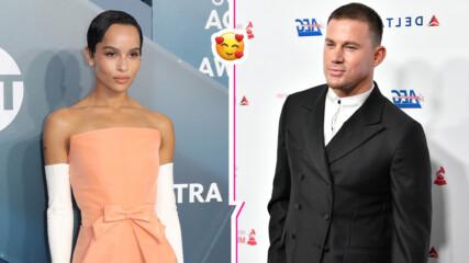Новата холивудска двойка? Папараци уловиха Зоуи Кравиц и Чанинг Тейтъм да се закачат
